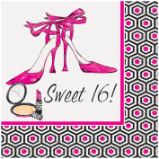 "Girls' Night Out ""Sweet 41cm Beverage Napkins, 16ct"