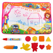 Large Aqua Doddle Pad Magic Water Drawing Mats Painting Board with 2 Magic Pens Educational Toys for Preschool Kids Toddlers Boys and Girls