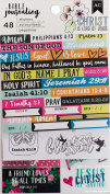American Crafts Bible Journaling Stickers 10cm x 18cm 3/Pkg