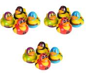 1 Dozen Masked Wrestler Style Rubber Ducks New