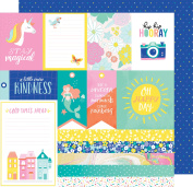 Dear Lizzy Stay Colourful Double-Sided Cardstock 30cm x 30cm