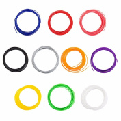 10 Colours ABS Filament Modelling for 3D Printer Pen Drawing