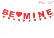 KATCHON Be Mine Banner With Heart Garland, No DIY Required, Great Valentines Day Banner For Valentines Decorations, Red