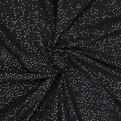 Black Cotton Jersey Fabric with Silver Foil Sparkle