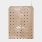 East of India With Love kraft brown Paper Bags with Stars x 50