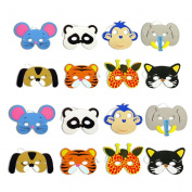 TOYMYTOY 12pcs Animal Face Mask for Children Kids Birthday Party Favours Dress Up Costume