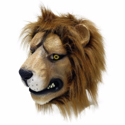 MASCARELLO® Lion Latex Head Mask Deluxe Novelty Halloween Costume Party Animal Lion Mask New