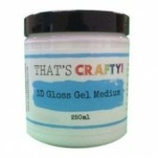 That's Crafty - 3D Gloss Gel Medium - 250ml
