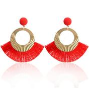 Earrings,KEERADS Ear Studs Fashion Elegant Vintage Tassel Big Circle Drop Dangling Earrings