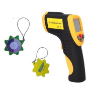 HQRP Non-Contact Digital Infrared Thermometer for Kitchen, Cooking, BBQ, Industrial, Auto Maintenance plus HQRP UV Metre