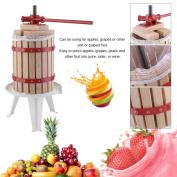 Belovedkai 6.1l Solid Wood Basket Fruit Wine Press Cider Apple Grape Crusher Juice Maker Tool
