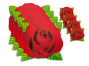 Placemats Set - Rose Shaped Placemats with Matching Coasters; 8 pc. Set