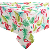 Flamingo Spillproof Indoor Outdoor Wrinkle Resistant 180cm Round Tablecloth Mult