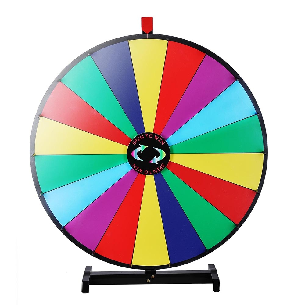 WinSpin 18 Segment 80cm Tabletop Colourful Spin Prize Wheel for Fortune  Carnival Spin Game DIY Editable