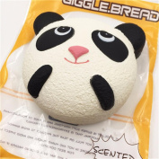 CYCTECH Stress Relief Toys Exquisite Simuation Panda Cake Squeezable Slow Rising Charm Kid Toy Gift