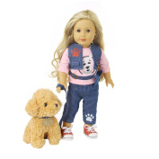 Doll Clothes, Rucan Jeans Clothes & Pants Clothes For 46cm Our Generation American Girl Doll