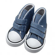 Canvas Sneakers Shoes, Ounice Magic Sticker Shoes for 46cm American Girl & Boy Dolls