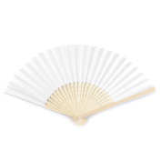 White Paper Fans 21 x 36 cm – Decorate or Paint Your Own