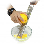 Lemon Zester, Mikey Store Stainless Vegetable Grater Peeler Slicer Kitchen Tool