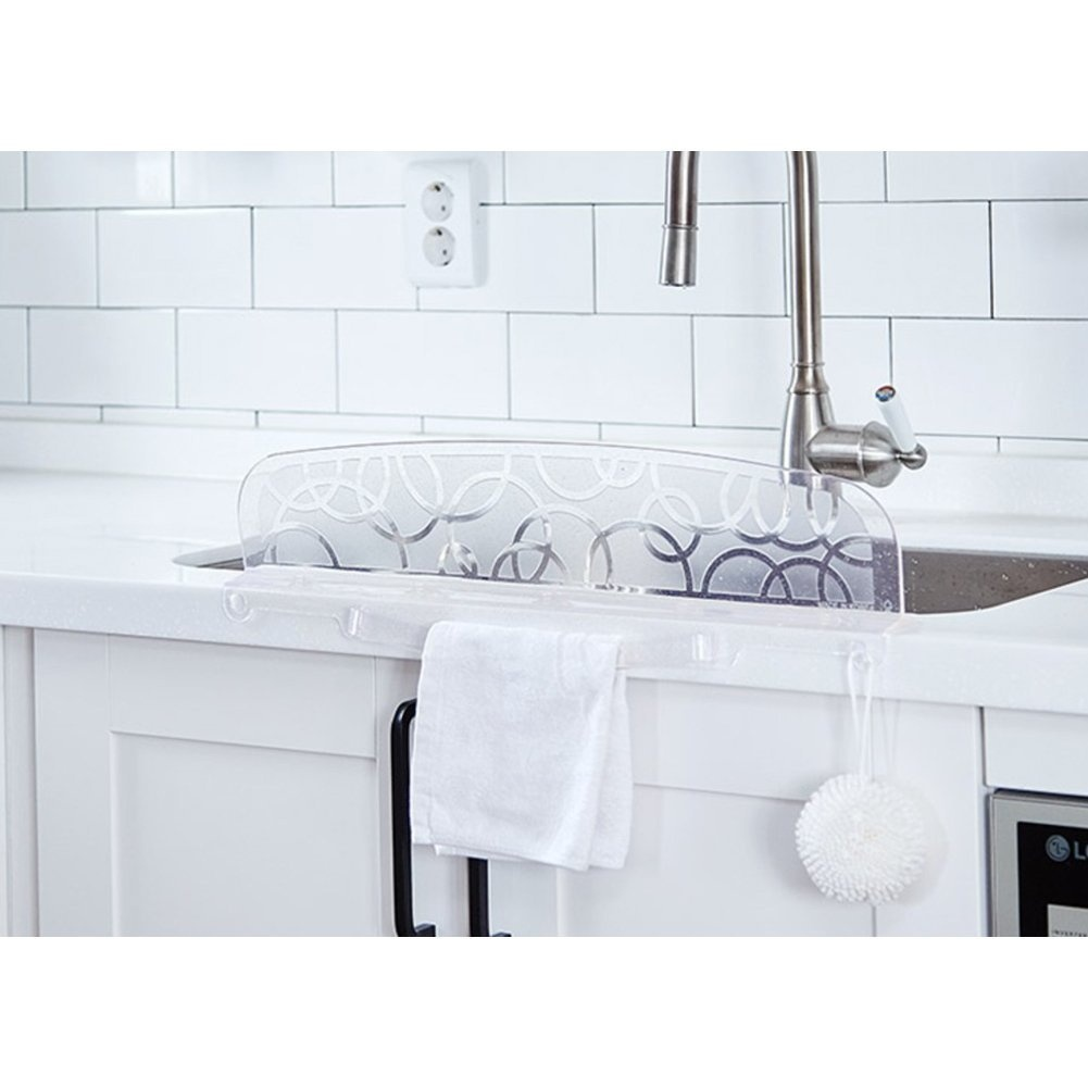 Kitchen Sink Water Splash Guard For Washing Dishes By Living And