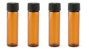 24pcs 3 ml Amber Glass Essential Oil Jars Bottle With Orifice Reducer And Black Cap Container
