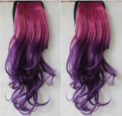 2013 New Fashion Ombre Hair Piece One Piece Clip In Hair Extension Ponytail curly