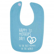 Turquoise Happy 1st Mother's Day To The Best Mummy In The World Baby Bib