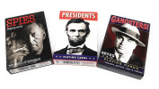 Gangsters, Spies and U.S. Presidents Picture-Playing Card Assortment-Vintage 3 Deck Set or Gift Pack