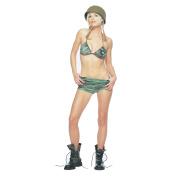 Morris Costumes Womens Camouflage Bikini Top W Shorts