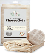 Cotton Cheesecloth for Kitchen Food Grade 50 Unbleached Cheesecloth Fabric Filter for Cheese/Kombucha scoby/Glass jar/Nut Milk/Wine Making Strainer Reusable-5 Yards Pack