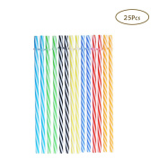 25PCS Reusable Drinking Straws For Kitchen & Dining , 23cm BPA-Free Plastic Syphon , Use Birthday Wedding Decor Party Bar Accessorie For Drinking Water, Beverages , Smoothies , Tea , Cocktails