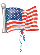 American Flag Shape Foil Balloon, 70cm , Multicolor, Great for parties and other special occasions By Anagram International