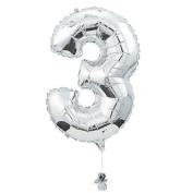 "IN-3/5033 ""3"" Shaped Mylar Balloon Each"