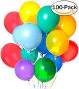 100Pcs Balloons set, Outgeek 30cm Latex Balloons for Wedding Festivals Holiday Party