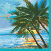 Palm Tree Summer Cocktail Napkins, 24ct