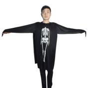 Men' Halloween Costumes Skeleton Side Split Spooky Ghost Robe Sz S