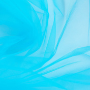 Bright Peacock / Turquoise Blue Fine Tulle fabric 300cm wide - sold by the metre - net suitable for prom, underskirt, veil, pleating & ruching