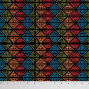 Soimoi Tribal Print Moss Georgette Fabric 110cm Wide Craft Material By The Metre - Black