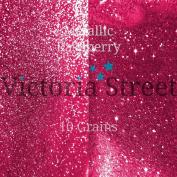 "Fine Glitter - 0.2mm / 0.008"" - Metallic - Raspberry - 25 Grammes"