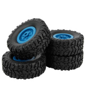❤️ Xinantime 4 Pcs WPL B-1 Rubber Wheel Complete 1:16 Spare Parts