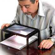 Promisen A4 Reading Magnifier 4LED Lights Large Magnifying Glass Hands Free Lighted Reading Magnifier