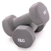 Neoprene Dumbbell Weights. Hand Held Pair. For Exercise & Home Gym Fitness. 1kg, 2kg, 3kg, 4kg, 5kg