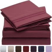 Mellanni 3pcs Bed Sheet Set - HIGHEST QUALITY Brushed Microfiber 1800 Bedding - Wrinkle, Fade, Stain Resistant - Hypoallergenic - 3 Piece - 1 Fitted Sheet and 2 Pillowcases