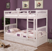 Cambridge Brae burn Bunk with Built in Storage Drawers Children's Bed Frames, Twin over Twin