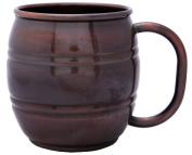 Melange 100% Authentic Copper Barrel Beer Mug, Antique Finish, Size-410ml
