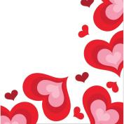 Valentine Hearts Valentine's Day Luncheon Napkins