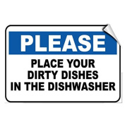 Please Place Your Dirty Dishes In The Dishwasher Funny Reflective Sign Gift for Women Outdoor Metal Aluminium Sign