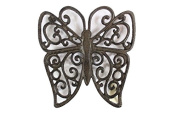 Cast Iron Butterfly Trivet 20cm - Decorative Cast Iron - Butterfly Decoration