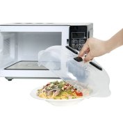 Microwave Hover Anti-Sputtering Cover,Gookit hover adsorbed function and safe convenient With magnetic,prevent food splatter cover,Microwave Lid