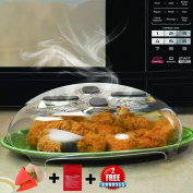 Microwave Anti-Sputtering Cover by Erd Kitchen - Upgraded Splatter Guard Microwave Splatter Lid with Steam Vents - 2 Great Bonuses
